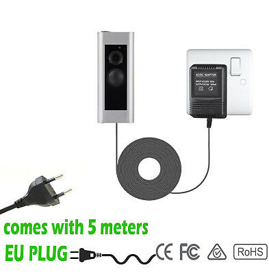 Power Supply Battery Charger EURO Adapter For Ring Video Doorbell  Doorbell 2
