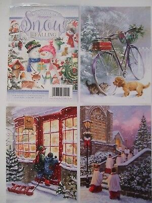 """Hunkydory 24 mixed Little Book of Card Toppers /""""Father Christmas/"""" see pictures"""