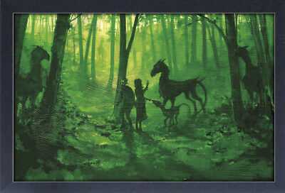HARRY POTTER FORBIDDEN FOREST 13x19 FRAMED GELCOAT MOVIE MAGIC COOL GIFT NEW FUN