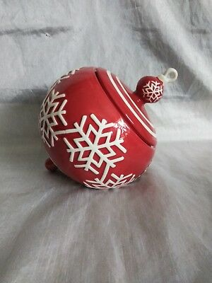 Real Home Christmas Ornament Cookie Jar 9 X 8 inches