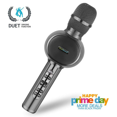 Wireless Microphone,Bluetooth Dual Sing,Vocal Remove,Handheld Mic Speaker NEW US