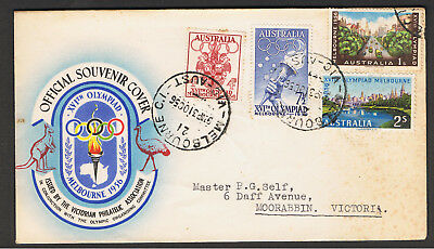 Australia 1956 Melbourne Olympics First Day Cover