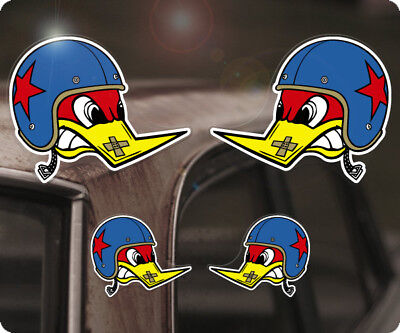 4x Stück Clay Smith Sticker Aufkleber Mr. Horsepower Woodpecker Helm Hot Rod