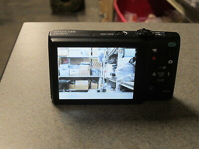 CANON IXUS 135 20MP Black Digital Camera & Battery. TESTED. Screen Scratched.