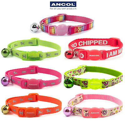 Ancol Cat Collar Flower Micro Chip & NEW FOR 2018 Reflective Hi Vis