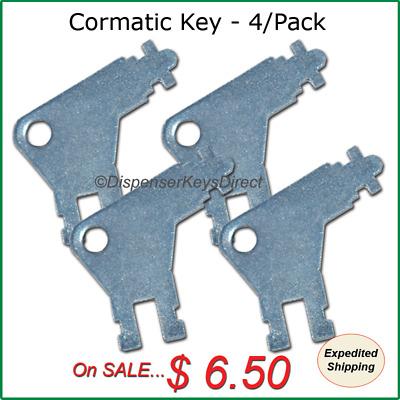 Cormatic Dispenser Key #50504 for Paper Towel & Toilet Tissue Dispensers (4/pk.)