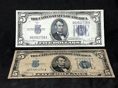 1934 A Early $5 Five Dollar STAR Replacement Silver Certificate (621 ...