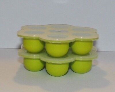 NEW Lot of 2 BEABA Silicone Multiportions Baby Food Tray BPA/Lead/Phthalate FREE