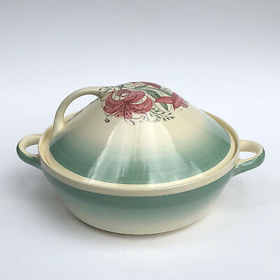 """Art Deco Susie Cooper 1930's  Tiger Lily Covered 8"""" Vegetable Server Dish"""