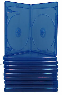 (6) Empty Blu-Ray DVD Case 10mm 2-Disc Double W/ LOGO Empty Replacement Cases