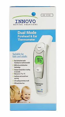 Innovo Medical Digital Forehead and Ear Thermometer 2017 Model - Temperature...