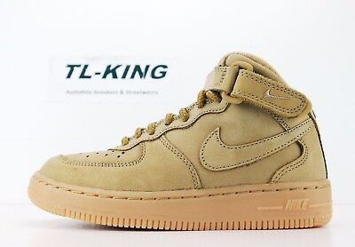 competitive price af0e8 b2eb7 NIKE AIR FORCE 1 One Mid WB PS Pre School Wheat Flax AH0756 203 Msrp $70 KK