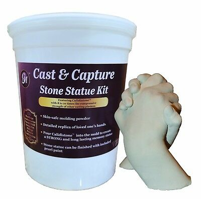 Memory Keepsake Hands Statue Kit Molding Powder & Casting Plaster by Grape Arts