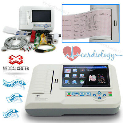Touch 6 canali,ECG Machine Electrocardiograph USB Software,12 derivazioni,France