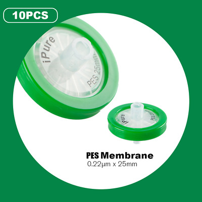 0.22μm/25mm non-sterilized Syringe Filter PES Filtration Membrane 10pcs/pack