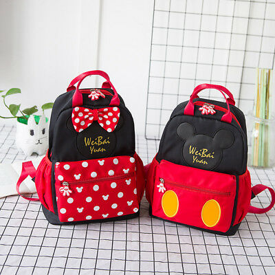 Lovely mickey minnie kids shoulder bag backpack school bag handbag new