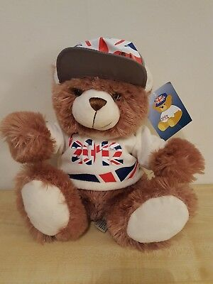 MIA-GRACE-TB1 Adopted By MIA-GRACE Teddy Bear Wearing a Personalised Name T-Shi