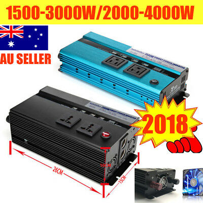 1500W/2000W/3000W/4000W DC 12V to AC 240V Car Power Inverter Charger Converter
