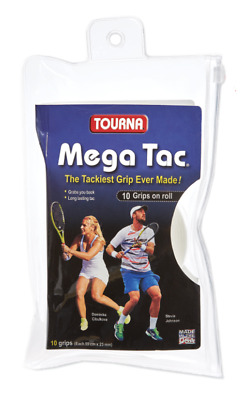 Tourna Mega Tac XL 10 Pack Tennis Overgrip White - Free P&P