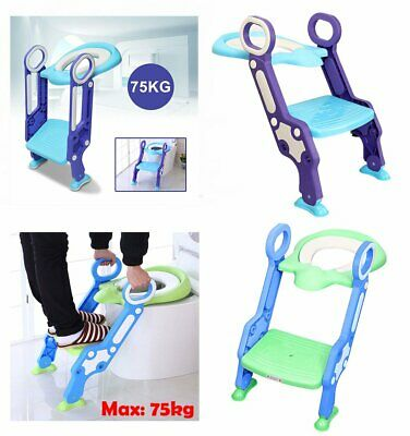 Safety Adjustable Ladder Seat Chair Baby Toddler Kids Potty Training Toilet Step
