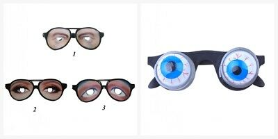 Halloween Crazy Eyes Glasses Funny Specs Shape Glasses Masquerade Tricky Prop