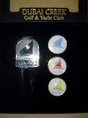 "Pitchgabel mit 4 Ballmarkern ""Dubai Creek Golf & Yacht Club """