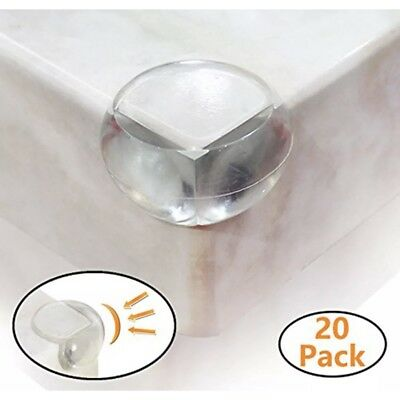 20 Pack Clear Corner Protectors Guards Covers,Soft Baby Proofing Furniture Table