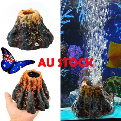 Aquarium Volcano Air Bubble Stone Oxygen Pump Fish Tank Ornament Decoration AU