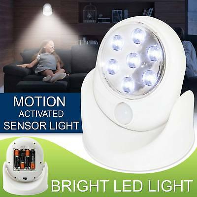 LED Motion Sensor Light Outdoor Indoor Garden Wall Patio Shed Battery Operated