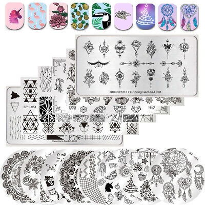 BORN PRETTY Nail Art Stamping Plates Flamingo Dreamcatchers Flower Christmas