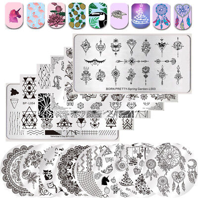 BORN PRETTY Nail Art Stamping Plates  s Flower Christmas