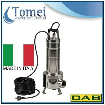 Submersible pump dirty water FEKA VS1200T-NA Vortex 1,2Kw 3x400V 50Hz cable10 DA