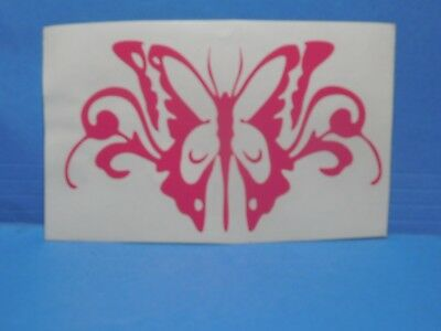 Butterfly Pink Vinyl Window Car Tattoo Decal Sticker 5""