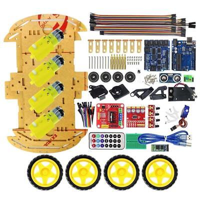 Bluetooth Controlled Robot Smart Car 4WD UNO R3 Starter Kit for Arduino Set./