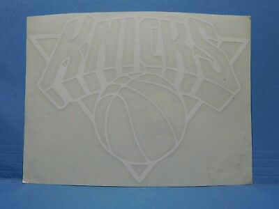 New York Knicks White Vinyl Window Car Tattoo Decal Sticker 6""
