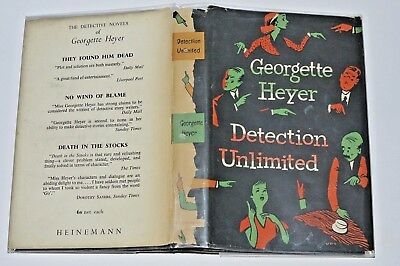 Georgette Heyer Detection Unlimited First Edition in D/J 1953