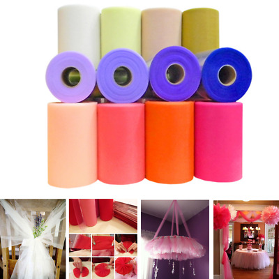 "Wedding Craft Party Home Decor 6""x25 Yards Tulle Roll Spool Tutus Fabric Gifts"