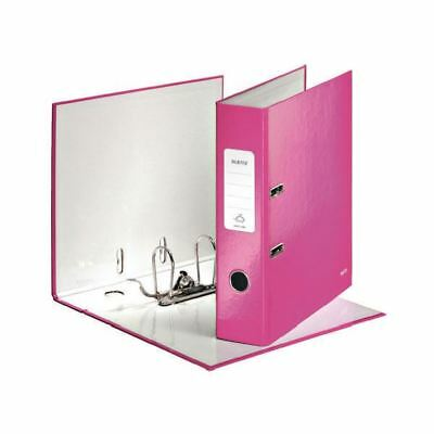 Leitz 180 Wow 80mm Metallic Pink A4 Lever Arch File [LZ32995]
