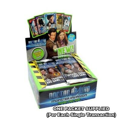 Doctor Who Monster Invasion Trading Card Packet : New Sealed 1 x Packet Supplied
