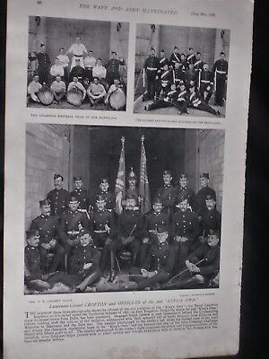 """OFFICERS, SOLDIERS & CHAMPION FOOTBALL TEAM of the """"King's Own"""" 1896 Photoprints"""