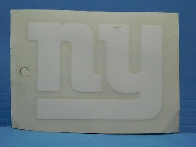 New York Giants White Vinyl Window Car Tattoo Decal Sticker 5""
