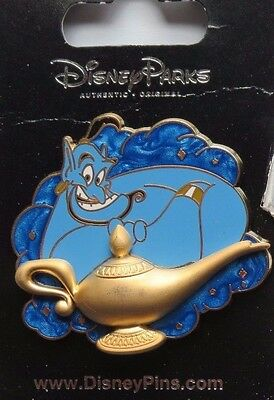 Disney Wdw Dlr Genie Of Lamp From Aladdin Pin