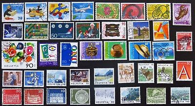 Switzerland Stamp Collection Of 40 Different Used Stamps All Unhinged