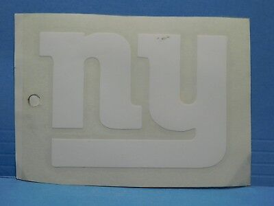 New York Giants White Vinyl Window Car Tattoo Decal Sticker 8""