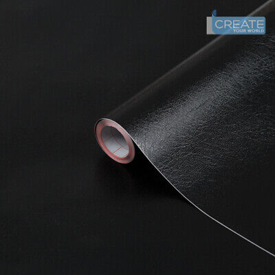 d-c-fix Sticky Back Plastic Self Adhesive Vinyl Leather Effect Black 90cm x 2m