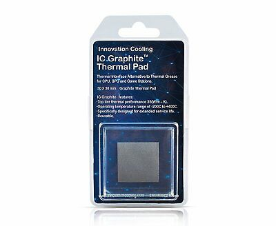 Innovation Cooling IC Graphite Thermal Pad – Alternative To Paste 30x30mm