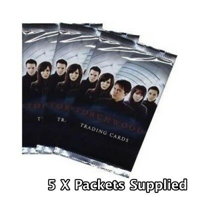 5 x Torchwood Trading Cards Packets - 2006 Foil Sealed New BBC (Dr Who SPIN OFF)