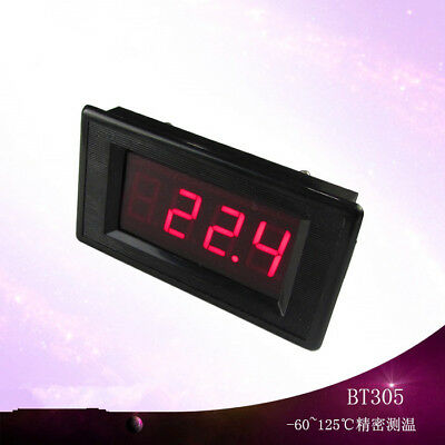 -60~125 degree digital display thermometer DC12V high and low temperature alarm