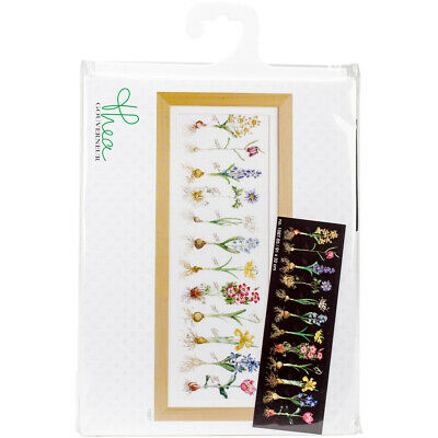 "Thea Gouverneur Bulbs On Aida Counted Cross Stitch Kit-12.5""X35.75"" 18 Count"