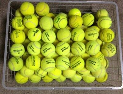 50 Used Tennis Balls - Still Great for Tennis Practice & Drills